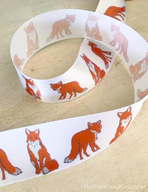Cute Foxes Equestrian Ribbon