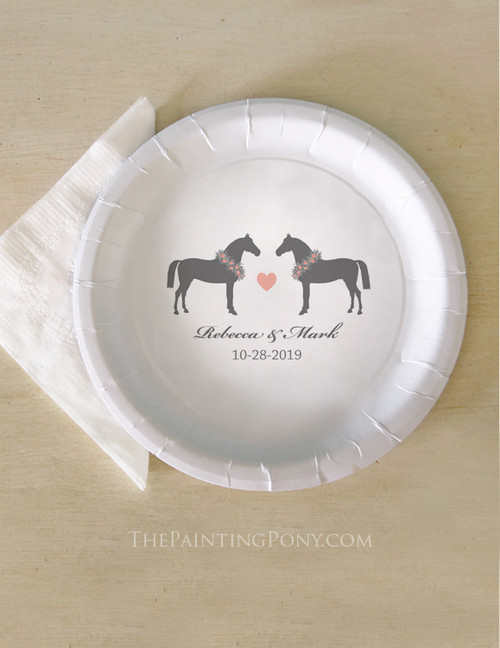 Whimsical Wedding Horse Lover Paper Party Plates (8 pk)