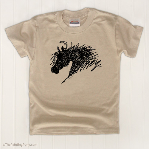 Horse head kids tee shirt