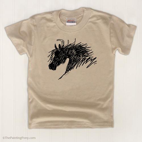 Horse head kids tee shirt