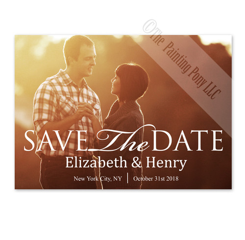 Simple Script and Photo Save The Date Cards