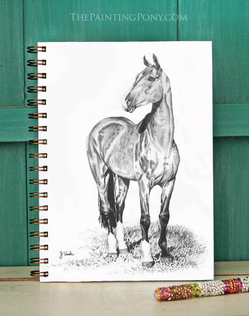 Akhal Teke Horse Art Bullet Journal