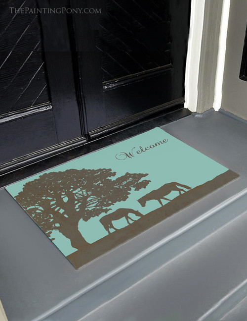 Superbe Horse Farm Personalized Equestrian Door Mat