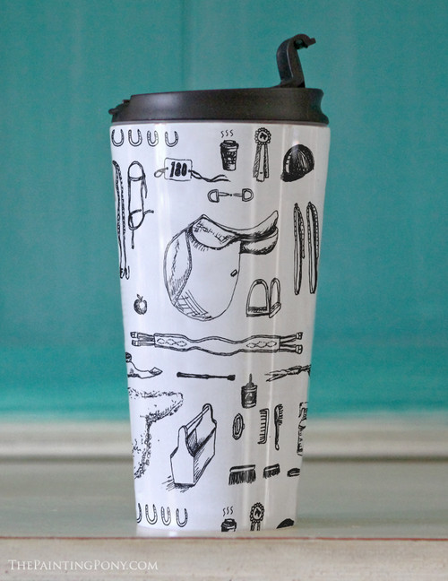 Copy of Copy of Fun Horse Pattern Travel Tumbler 15oz