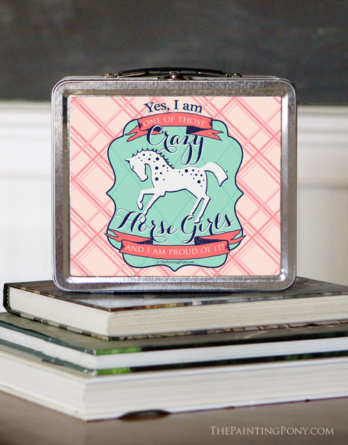 crazy horse girl lunch box