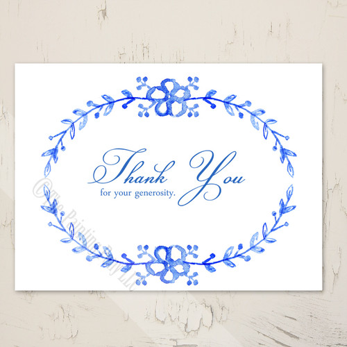 Watercolor Country Floral Thank You Cards (10 pk)