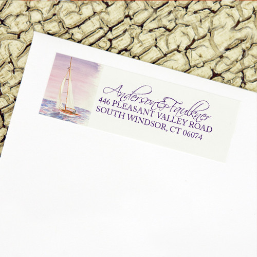 Sail Boat Watercolor Nautical Wedding Return Address Labels