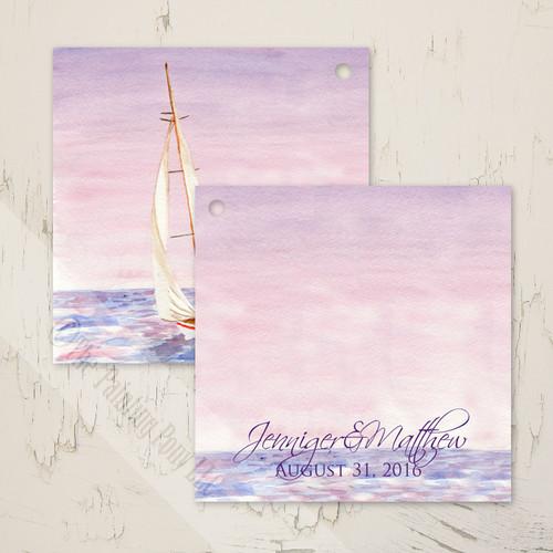 Sail Boat Watercolor Nautical Wedding Gift Tags (25 pk)