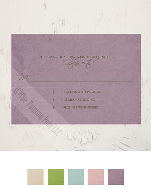 Dogwood Flowers Wedding RSVP card (10 pk)