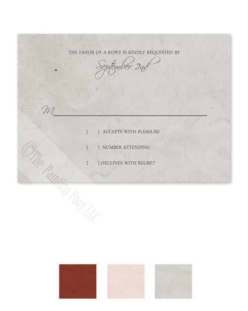 Vintage Photo Album Page Wedding RSVP card (10 pk)