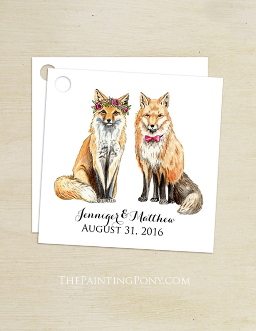 Bohemian Fox Wedding Gift Tags (25 pk)