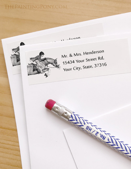 Hunter Pony Return Address Labels