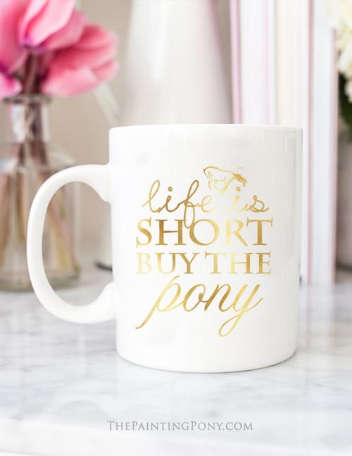 Buy The Pony Gold Foil Coffee Mug