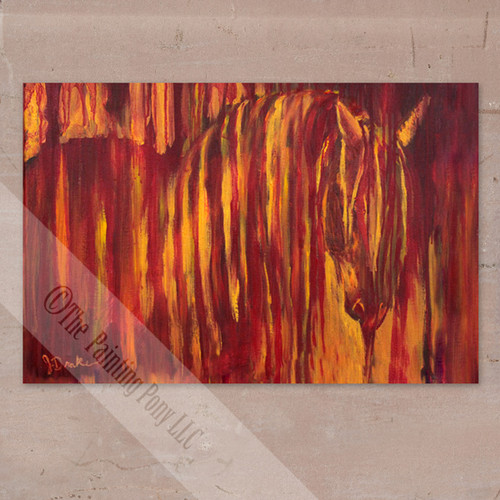 Fire Horse Canvas Wall Art Print