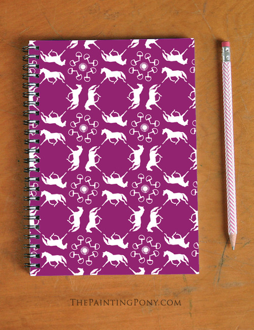 Trotting Pony Pattern Spiral Notebook