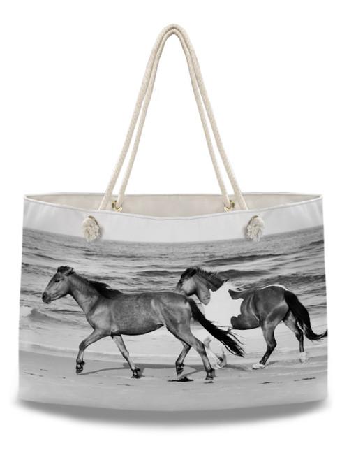 Galloping Beach Horses Equestrian Weekender Tote Bag