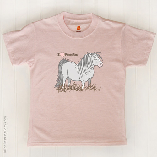 I Love Ponies Kids T Shirt