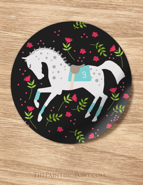 Derby Race Horse Equestrian Stickers