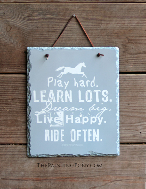 Ride Often Equestrian Slate Wall Sign