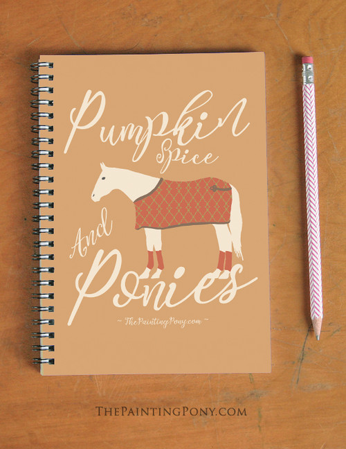 Pumpkin Spice and Ponies Spiral Notebook