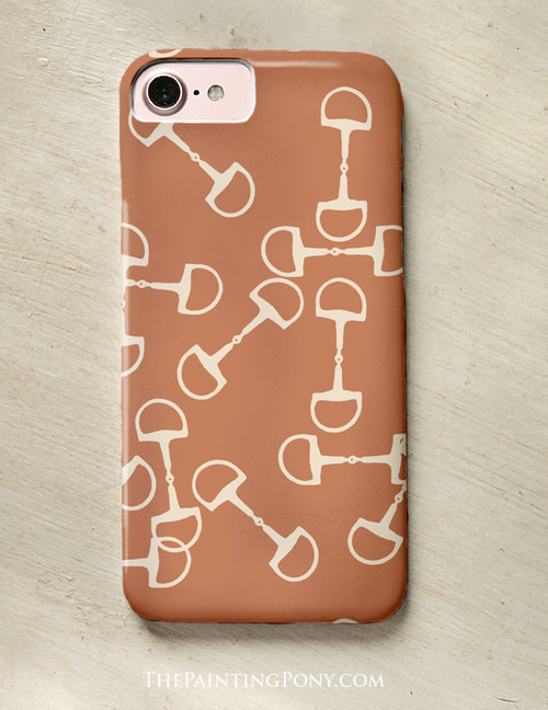 *FLASH SALE* Pumpkin Spiced Horse Bit Pattern Phone Case