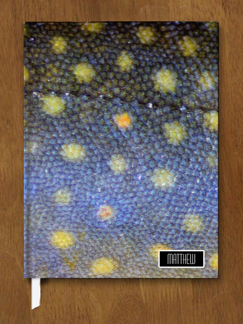 Brook Trout Skin Designer Hardbound Journal
