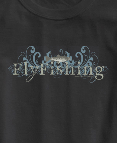 Grunge Fly Fishing Adult T-Shirt