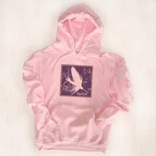 Block Print Fly Hoodie - Purple