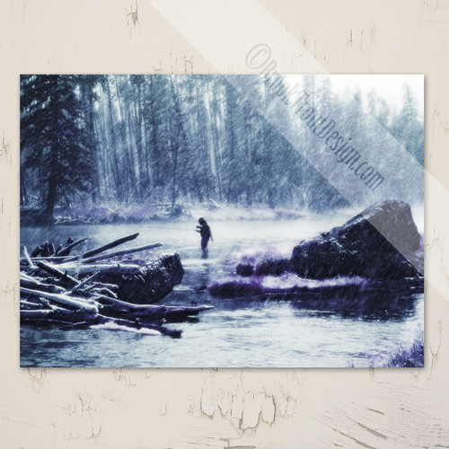 Madison River in the Snow Christmas Greeting Cards (10 pk)
