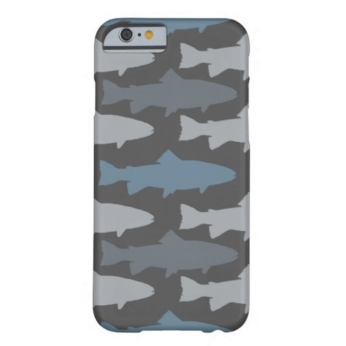 Blue and Grey Trout Fly Fishing Phone Case