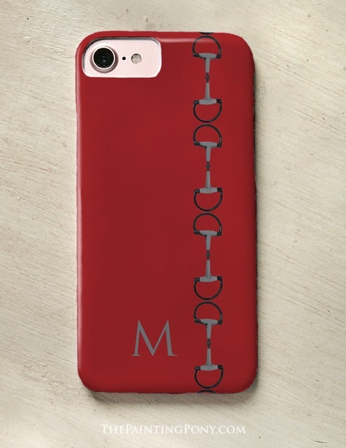 Red Equestrian Horse Bit Phone Case