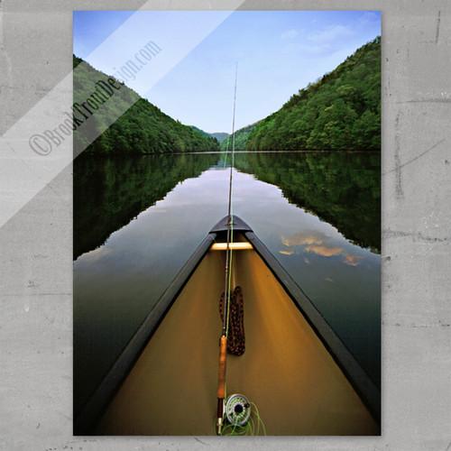 Mountain Canoe Fishing Fine Art Print