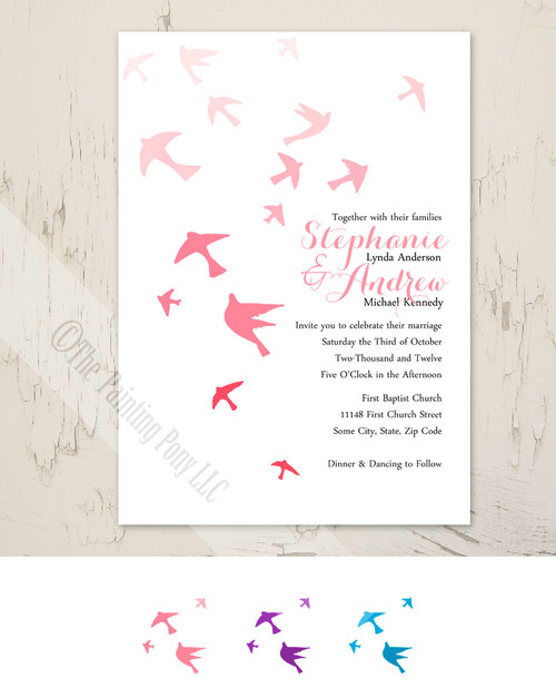 Flying Doves Wedding Invitation (10 pk)