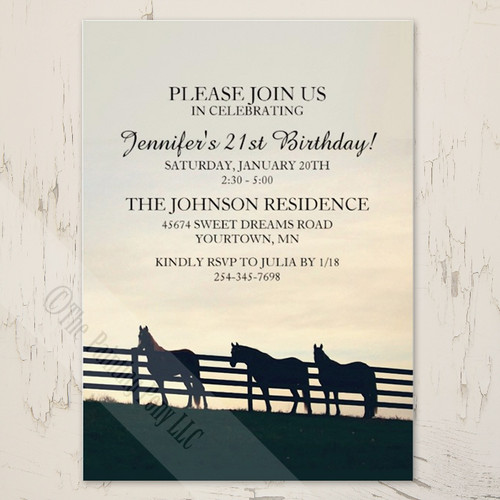 Country Farm Cowgirl Birthday Party Invitation