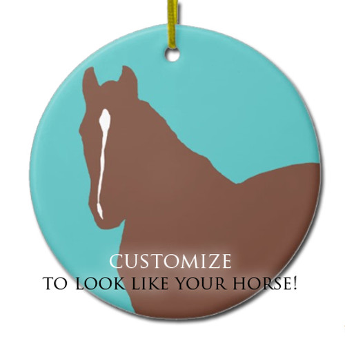 personalized horse ornament with customized facial marking!
