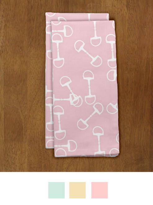 Equestrian Horse Bit Pattern Spring Cloth Napkin