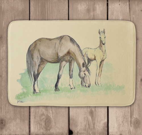 Mare and Baby Foal Bath Mat