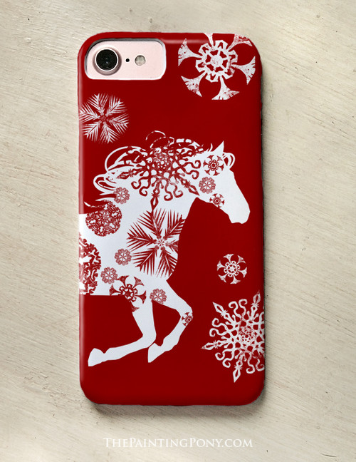 Holiday Snowflake Horse Phone Case