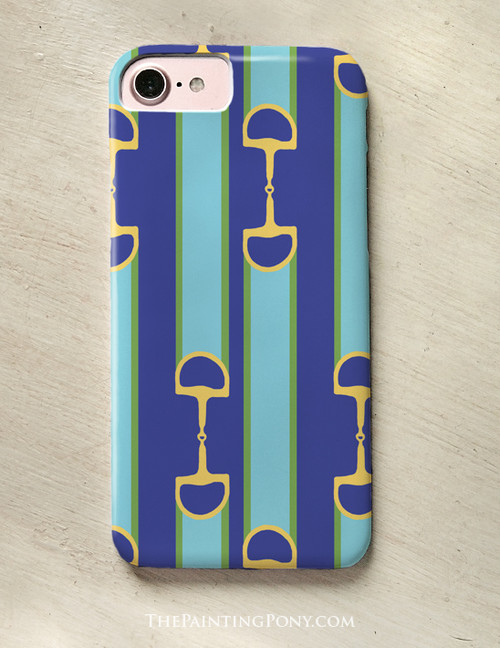 Equestrian Ribbon Bit Pattern Phone Case
