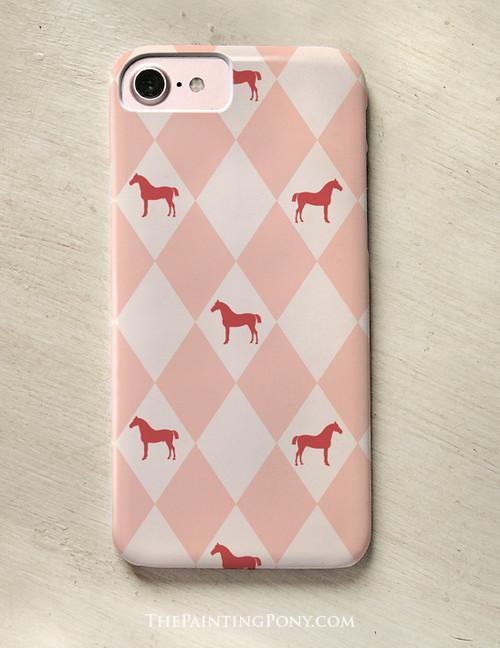 Equestrian Harlequin Horse Phone Case