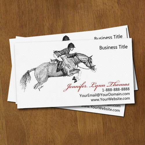 Hunter Jumper Horse Trainer Business Cards