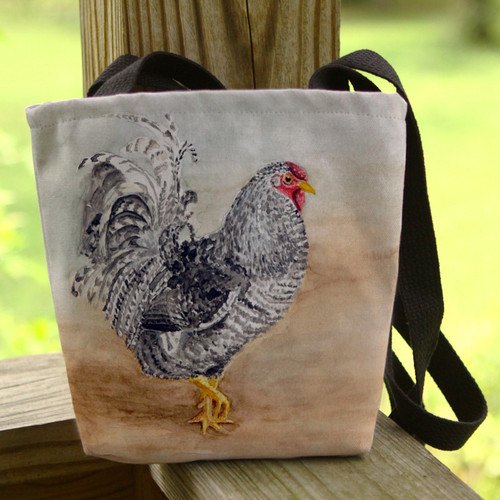 chicken themed basic tote bag