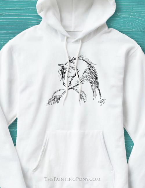 Horse Head Sketch Hoodie