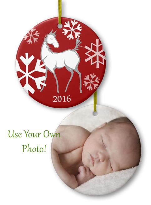 Baby's first christmas equestrian horse foal Christmas ornament