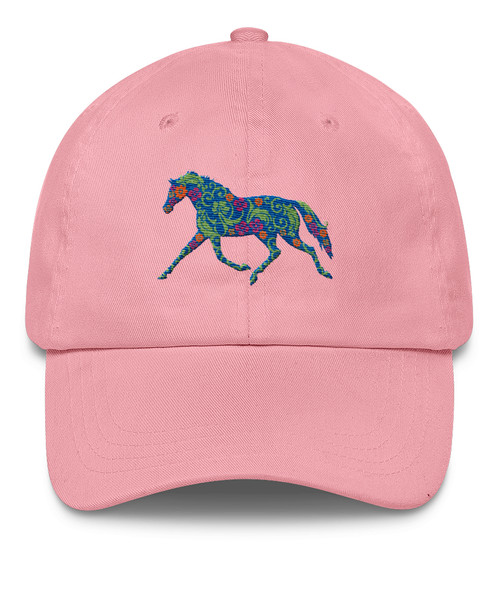 Trotting Flower Horse Emroidered Hat