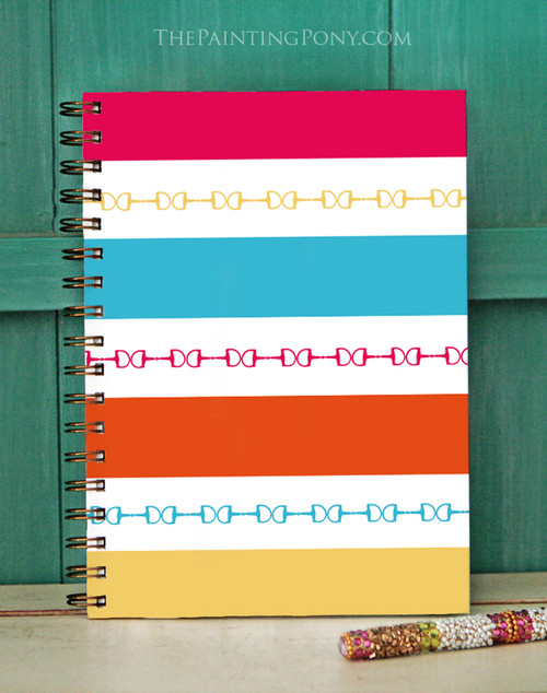 Colorful Horse Bits Striped Bullet Journal