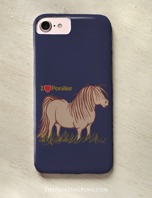 I Love Ponies Phone Case