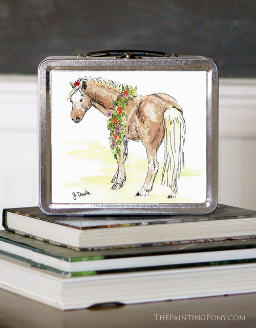 Cute Watercolor Pony Lunch Box