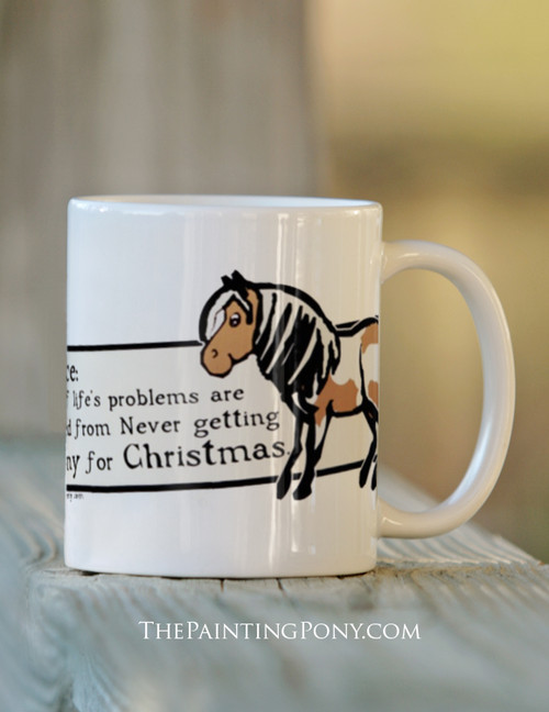 Notice All Life's Problems Equestrian Ceramic Mug