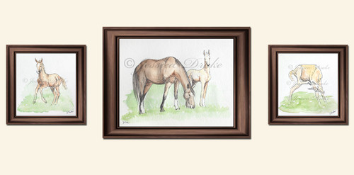 Spring Foals watercolor paintings